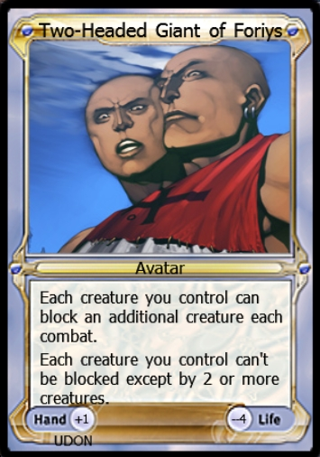 Two-Headed Giant of Foriys Avatar