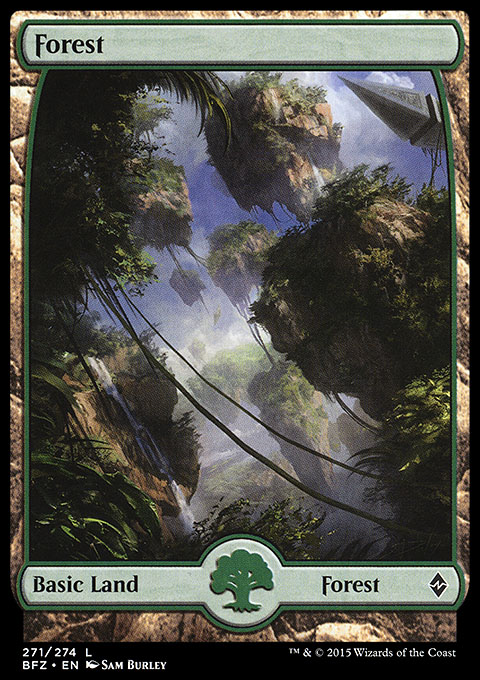 Zendikar Forest Mtg