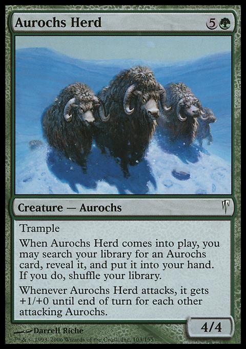 Aurochs Stampede Coldsnap Theme Deck Mtg Wtf