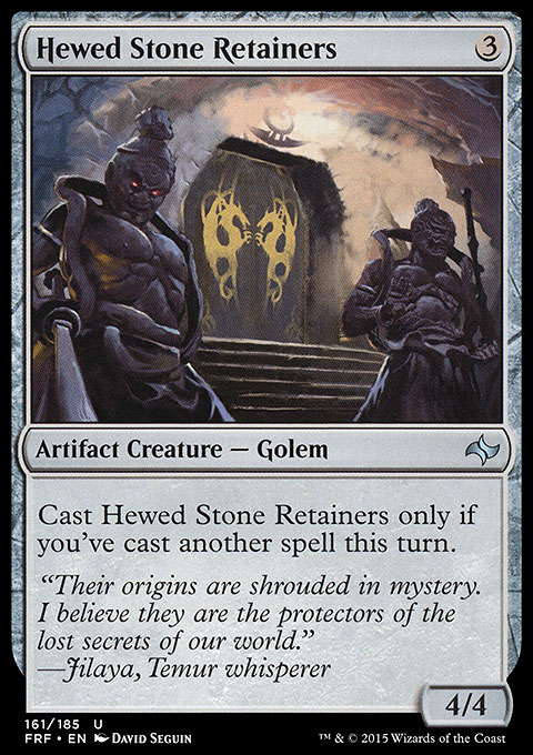 Hewed Stone Retainers