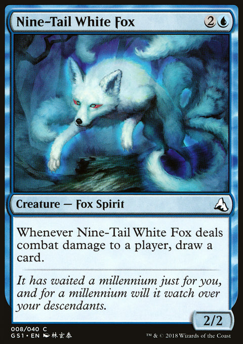 Nine-Tail White Fox