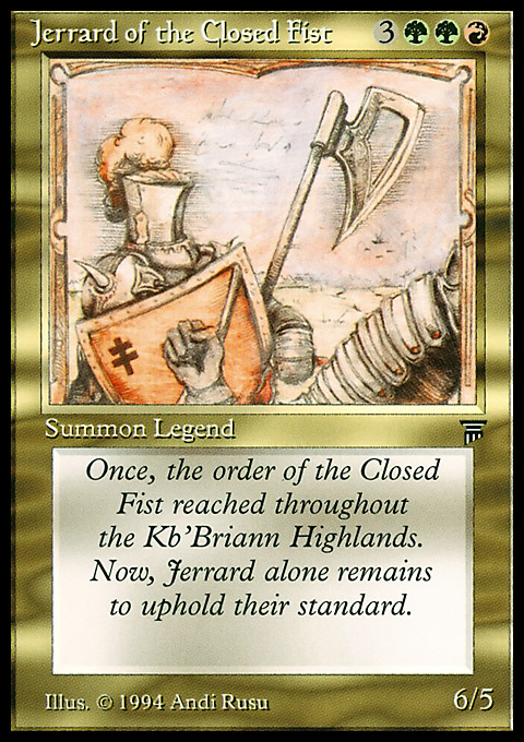 Jerrard of the Closed Fist