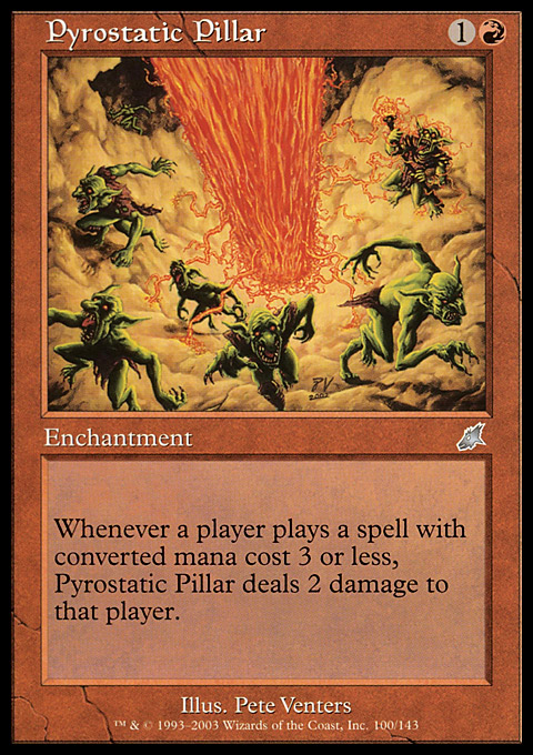 Pyrostatic Pillar