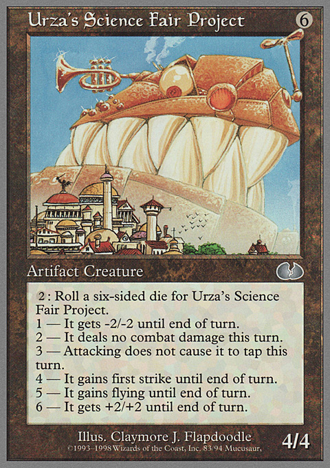 Urza's Science Fair Project